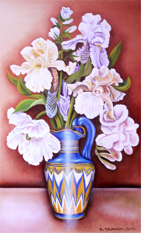 Les iris au vase égyptien - BERNARD TOURNIER©BERNARD TOURNIER