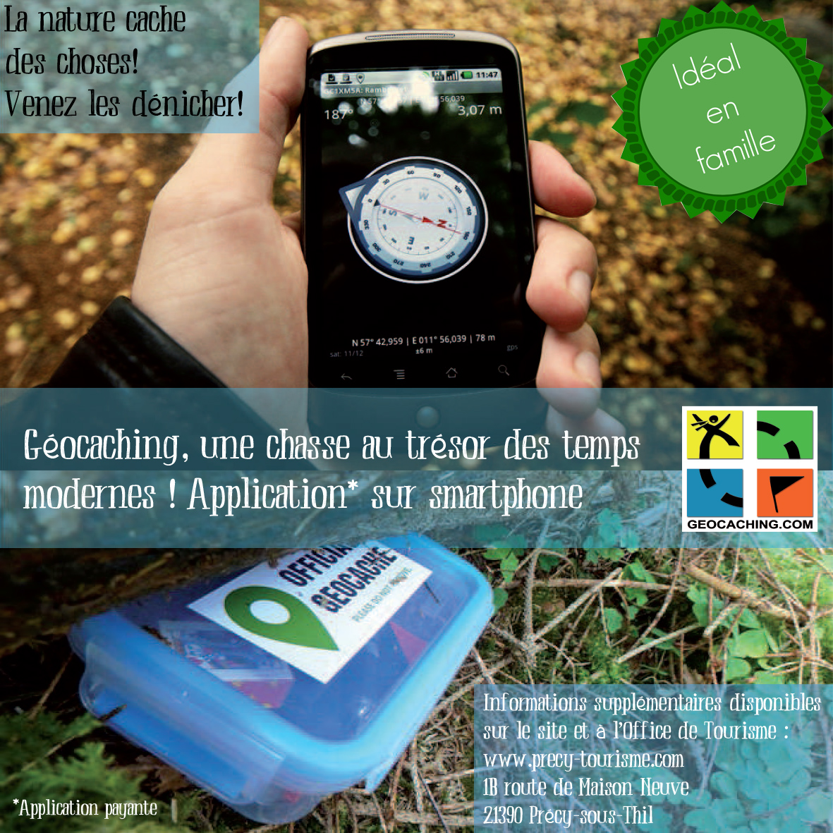 Geocaching - Office de tourisme de la Butte de Thil © C.FIEVET