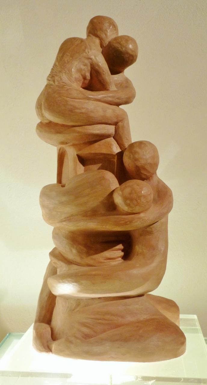 Sculpture - Le Lien - Sculpture Poudre de Marbre patinée